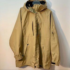 Eddie Bauer Weather Edge Tan Hood Coat Large Tall